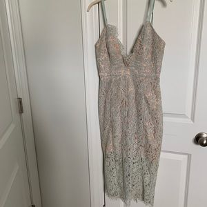 House of CB plunge lace dress